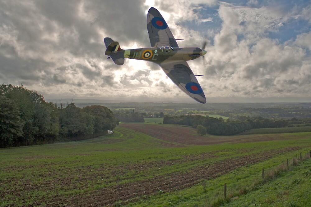 Spitfire Low by Dave Godden