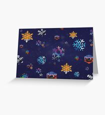 Muse Snowflake Christmas Card Greeting Card