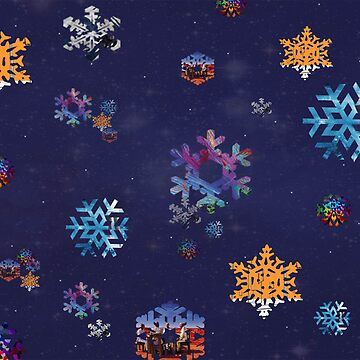 Muse Snowflake Christmas Card by -DeadStar-