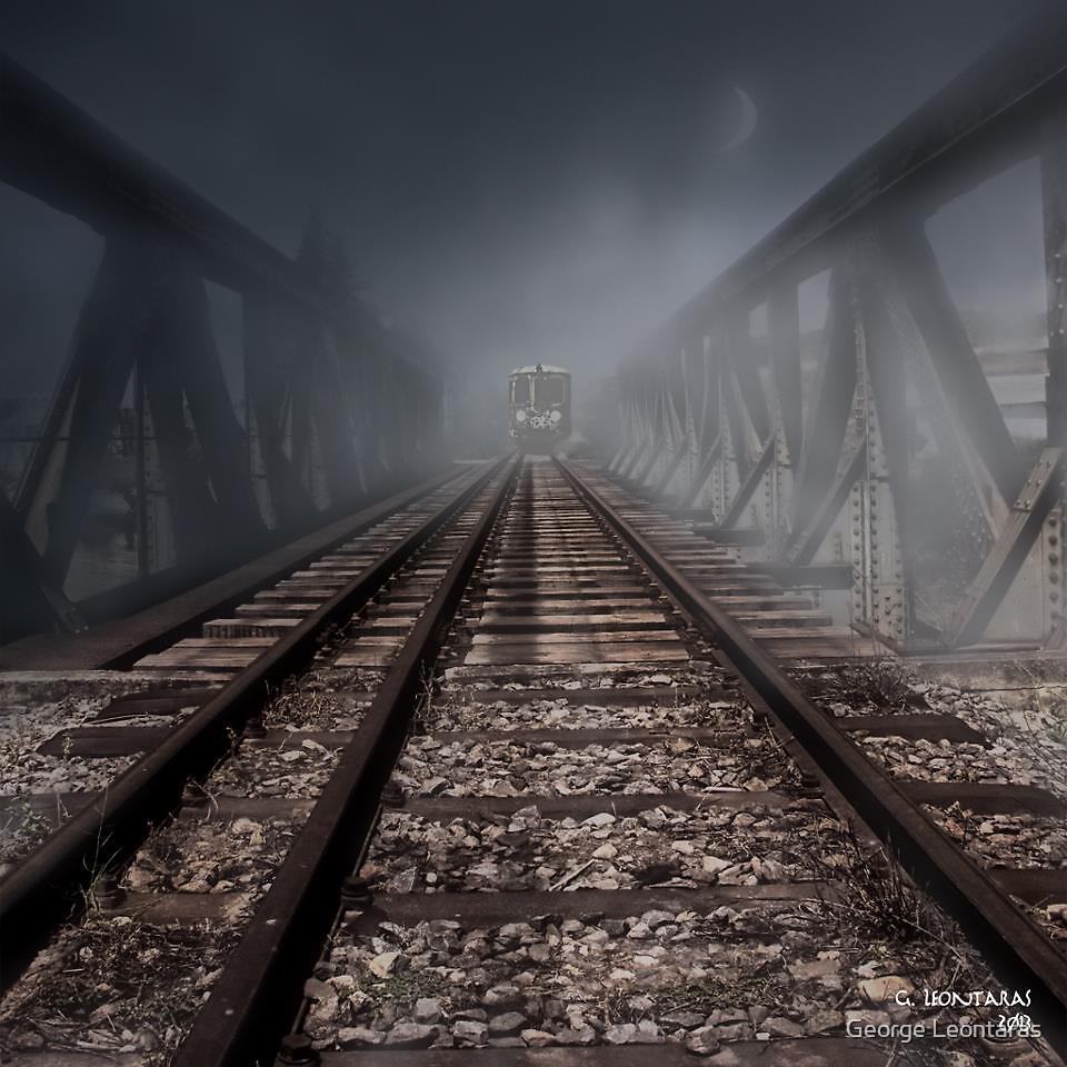 The fog train by George Leontaras
