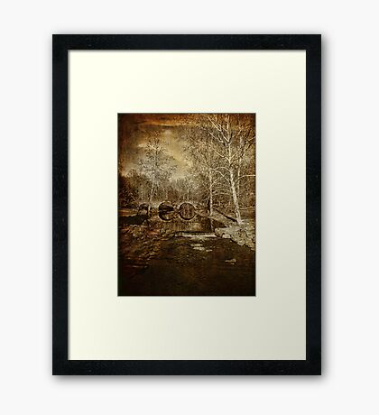 Ye Olde Stone Arch Bridge Framed Print