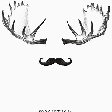 moosetache - black by JustSoBlonde