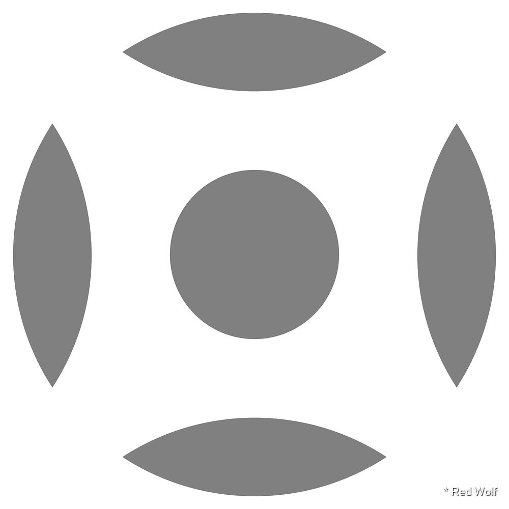 Geometric Pattern: Intersect Circle: White/Battleship by * Red Wolf