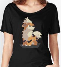 Cutout Growlithe Women's Relaxed Fit T-Shirt