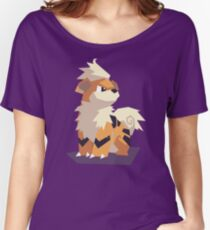 Cutout Growlithe Women's Relaxed Fit T-Shirt