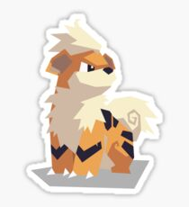 Cutout Growlithe Sticker