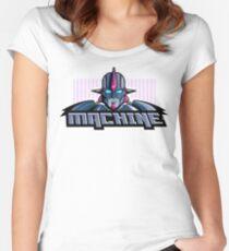 Machine Retro 1980's Cartoon Design Women's Fitted Scoop T-Shirt