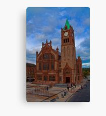 Northern Ireland. Derry. The Guildhall. Canvas Print