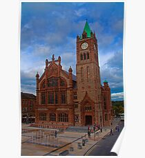 Northern Ireland. Derry. The Guildhall. Poster