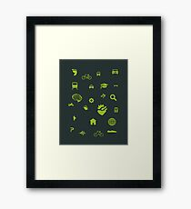 Urban mobility icons illustration Framed Print
