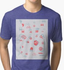 Urban mobility icons illustration Tri-blend T-Shirt