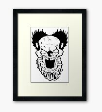 Maniacal Skull Clown Framed Print