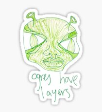 ogres have layers Sticker