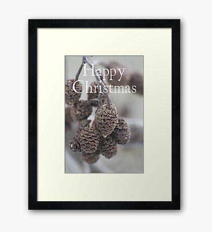 Pine Cone Christmas card Framed Print