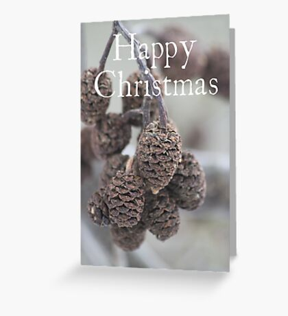 Pine Cone Christmas card Greeting Card