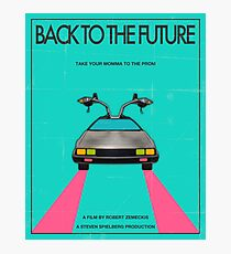 Back To The Future Blue Photographic Print