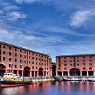 Albert Dock And The Tug Brocklebank by inkedsandra