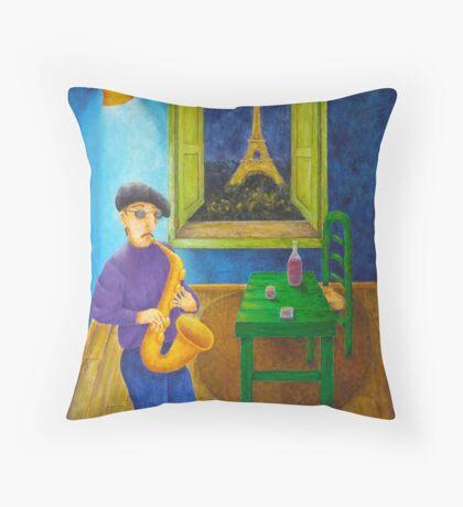 Paris Blues Throw Pillow