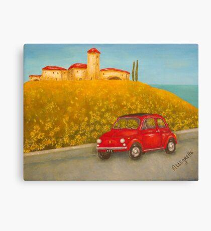 Vintage Red Fiat 500  Canvas Print