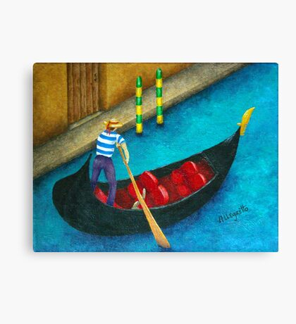 Venetian Gondolier Canvas Print