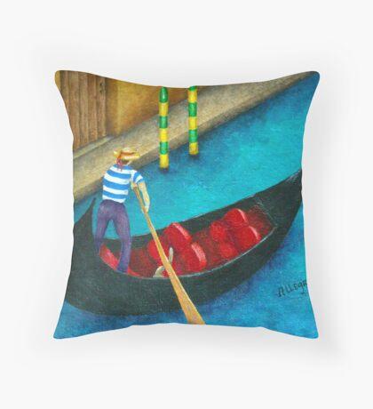 Venetian Gondolier Throw Pillow