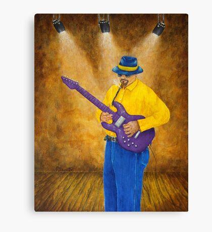 Blues Guitar Man Canvas Print