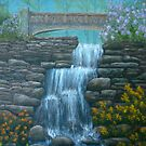 New England Waterfall in Summer by Allegretto