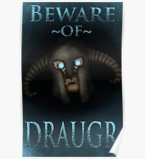 Beware of Draugr Poster