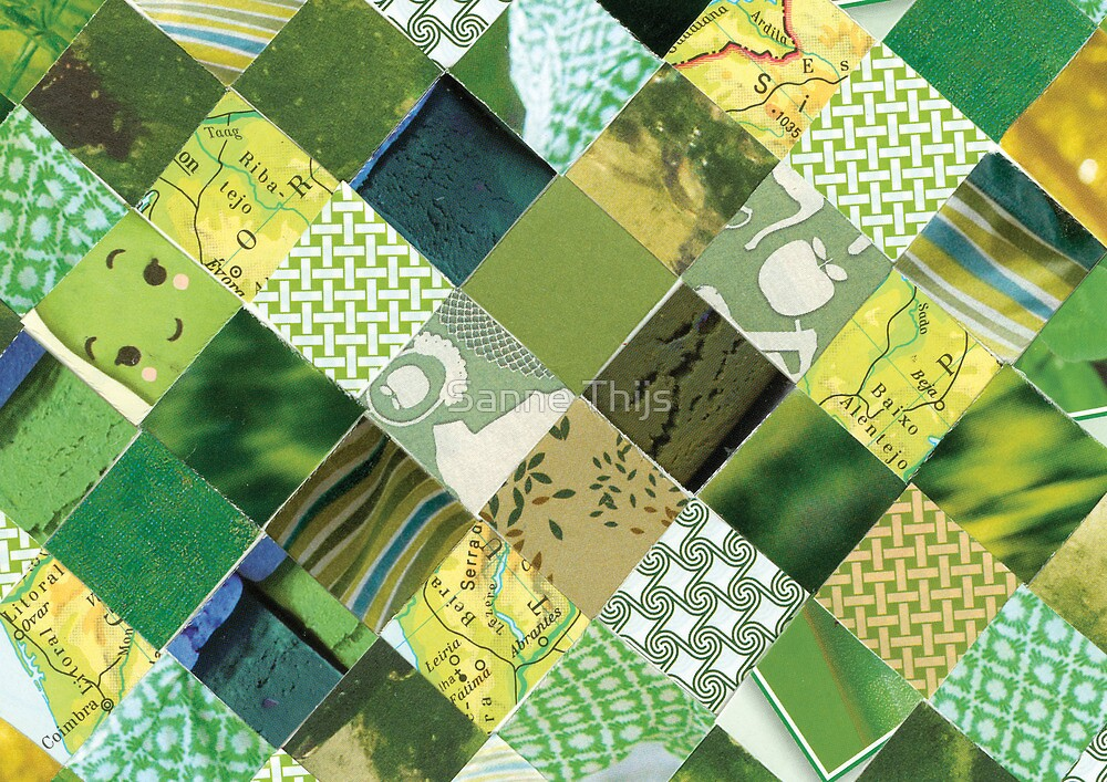 collagecard: Green by Sanne Thijs