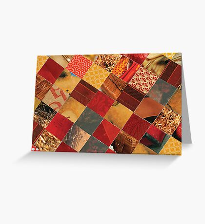 collagecard: Dark red Greeting Card