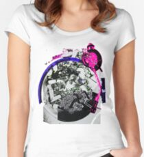 Turntable Ashtray (Miami Remix) Women's Fitted Scoop T-Shirt