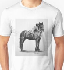 """You Make My World Complete"" Friesian portrait T-Shirt"