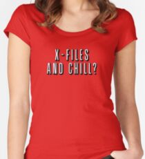 X-Files and Chill Women's Fitted Scoop T-Shirt