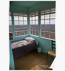 Pinnacle Knob Fire Tower~ where he slept Poster