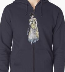 Lady Cecilia Fifield - Regency Fashion Illustration Zipped Hoodie