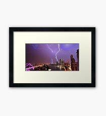 Multiple Exposure | Lightning III Framed Print