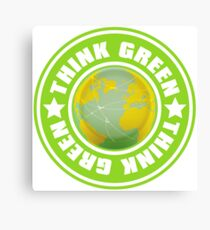 Think_Green Canvas Print