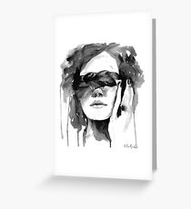 Girl with the Plait in Her Hair Greeting Card