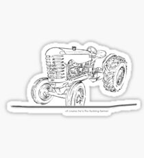 withnail tractor Sticker