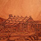 Pyrography: Craig's Hut by aussiebushstick