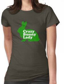 Crazy Bunny Lady Womens Fitted T-Shirt