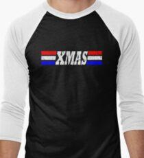 XMAS Bad Mofo Red White & Blue Christmas Men's Baseball ¾ T-Shirt
