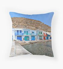 Klima - Milos island Throw Pillow