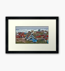 Saqqaq, between sea and ice Framed Print