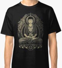 Gautama Buddha Yellow Halftone Textured Classic T-Shirt