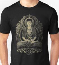 Gautama Buddha Yellow Halftone Textured Unisex T-Shirt