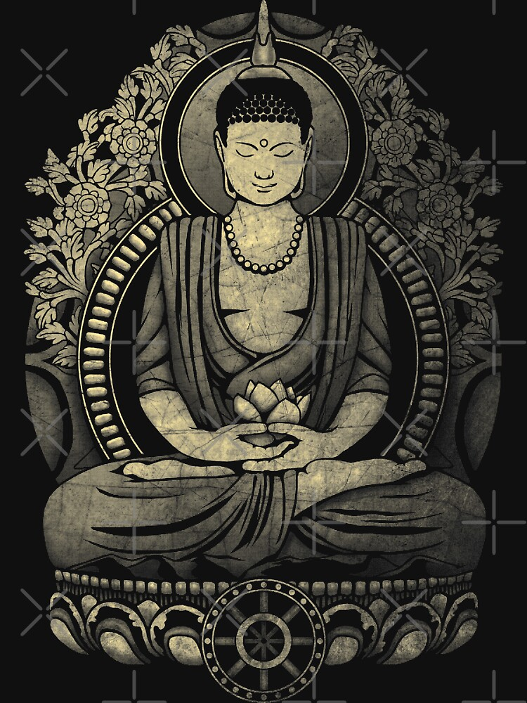 Gautama Buddha Yellow Halftone Textured by GrizzlyGaz