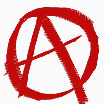 Anarchy Symbol Graffiti Style by DrJCabbage