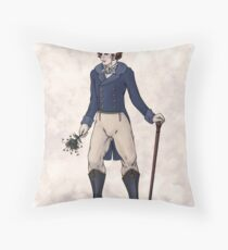 Sir Aubrey Granthorpe - Regency Fashion Illustration Throw Pillow