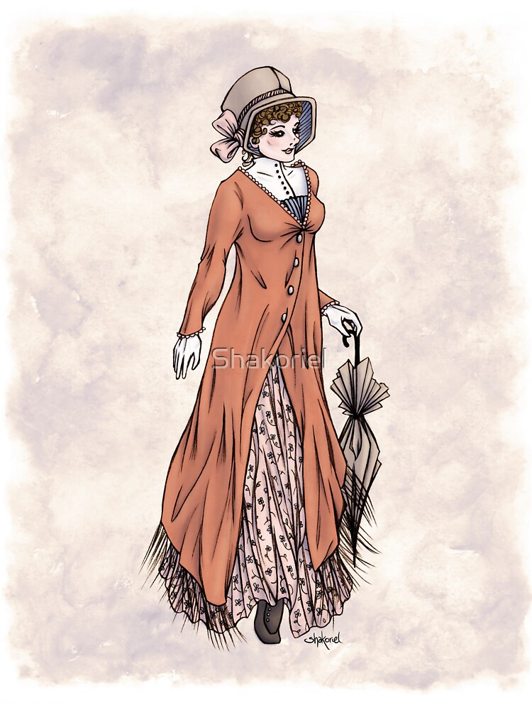 Miss Phoebe Churcham - Regency Fashion Illustration by Shakoriel